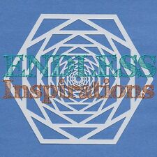 "6""x6""Endless Inspirations Stencil, Hypnotic - Free US Shipping"