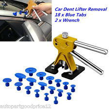 Car Body Paintless Dent Repair Tools PDR Puller Removal  w/ 18 Glue Pulling Tabs