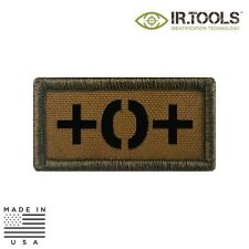 IR Tools CID-FLAG-F5113 Infrared IR Blood Type Patch, Coyote Brown - O POS