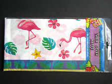 """Pink Flamingo Lightweight Plastic Table Cover 54"""" x 108"""" BRAND NEW"""
