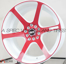 17X9 STR 521 5X114.3 +20 RED RIMS FIT SCION TX XB TSX RSX MR2 CIVIC SI 240SX S13