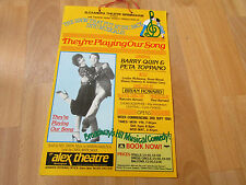 They're  Playing Our Song 1984  Alexandra Theatre BIRMINGHAM  Original Poster