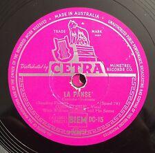 """RARE 78 RPM 10"""" CETRA STAMPA AUSTRALIANA COSIMO GILE' LA PANSE'/POKER DI VOCI"""