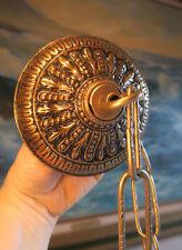 Large Vintage gilt Brass Bronze Ceiling cap canopy chain lamp chandelier part