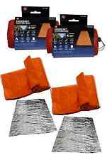 LOT of 2 Heavy Duty Emergency Solar Thermal Sleeping Bag Bivvy Survival Camping
