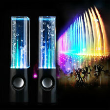Black LED Dancing Water show music Fountain Light Speakers for Phone Laptop USA