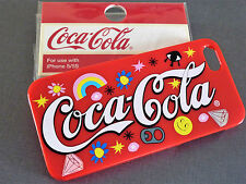 NEUF COCA COLA Housse portable Coke Housse de protection iPhone 5 5s se rigide Cover rouge