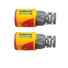 Hozelock 2055 AquaStop Water Stop Connector PLUS (12.5mm & 15mm) Pack 2