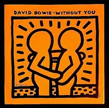 "KEITH HARING  cover - david bowie ""WITHOUT YOU"" vinyl 45T(EP)1983 /banksy/warhol"