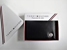 Men's Credit Card Wallet 'Tommy Hilfiger' Bifold - Black[Coin Pouch]