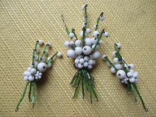 1940's Miriam Haskell Horseshoe Plaque Lily of the Valley Brooch Pin & Earrings