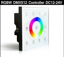 DMX RGBW RGB Controller LED strip touch panel DMX512 Dimmer 4-zone 4CH 12-24V D8