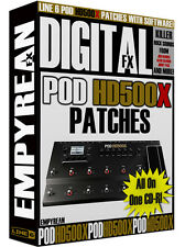Line 6 POD HD500X Patches Guitar Effects Presets Amp Tone Artist Settings Line6