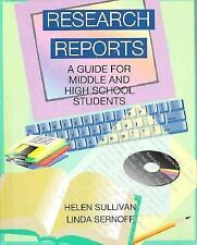 Research Reports: A Guide for Middle and High School Students by Helen Sullivan