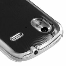 for HTC Amaze 4G (T-Mobile) - Black Acrylic Metal Aluminum Hard Back Case Cover