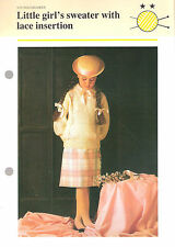 Childrens Knitting Pattern - Young Children - Little girl's sweater with lace in