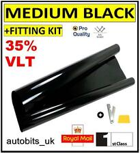 PRO SCRATCH RESISTANT CAR WINDOW TINT FILM TINTING  BLACK  SMOKE 35% 76cm x 6M