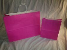 WHOLESALE 200 HOT PINK CUBS & VOGUES SET OF 16X12 8X10 PAPER SHOPPING GIFT BAGS