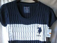 NEW NWT U.S.POLO ASSN Womens Dress; Sz. SMALL, Navy/White