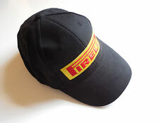NEW PIRELLI LOGO BLACK BASEBALL CAP HAT WITH ADJUSTABLE STRAP WITH CLIP