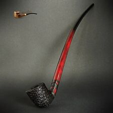 "TOBACCO SMOKING PIPE Gandalf Hobbit CHURCHWARDEN  EXTRA LONG 14""  Red Rustic 2"