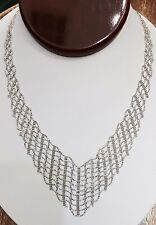 Pre Owned 14K Solid White Gold  Necklace 16 Inches 14.24 Grams