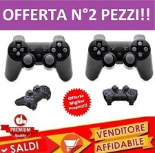 2 JOYSTICK WIRELESS COMPATIBILE PS3 SENZA FILI joypad USB controller VIBRAZIONE