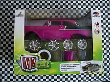 M2  1/24  57 CHEVY     MODEL KIT  (  REL.  4   )   PURPLE  AND BLACK   MOMB