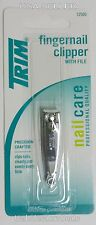 TRIM Fingernail Clipper with File 12500 Professional Nail Clipper NEW