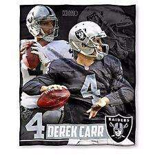 "NFL Oakland Raiders Derek Carr 50"" x 60"" Silk Touch Throw"