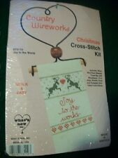 "Country Wireworks ""Joy To The World"" Cross Stitch Kit Size 4 1/2"" x 7"""
