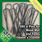 200 x Anchor Pins Pegs for Weed Mat Tent Pegs Tarpaulin Pins 150mm x 150mm