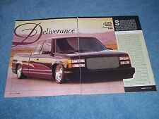 """1994 GMC Sierra Extended Cab Custom Pickup Truck Article """"Deliverance"""""""