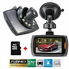 "Full HD1080P 2.7"" Car DVR CCTV Dash Camera G-sensor Night Vision Recorder+8GCard"
