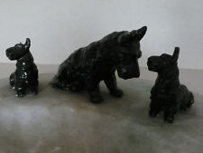 Scottish Terrier Family Mother Dog and Puppies  Metal Figures Vintage large