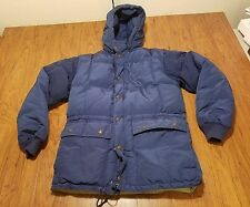 Eddie Bauer Goosedown Jacket Vintage kora koram ? Size Medium M Blue Down coat
