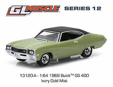 Greenlight Muscle Series:1968 Buick GS 400 1:64 Scale (Ivory Gold Mist)