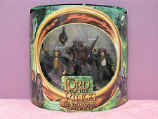 LOTR: MERRY & PIPPIN & MORIA ORC - GREEN ROUND BOX - TOYBIZ - FACTORY SEALED