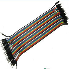 40PCS Male to Male Solderless Flexible Breadboard Jumper Cable Wires For Arduino