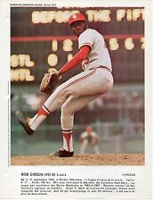Color glossy 1973 8 x 10 photo Bob Gibson St. Louis Cardinals near mint !