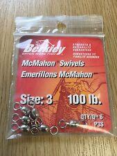 Berkley McMahon Taglia 3, 100lb perni Confezione da 6. Predator/Mare/Esca Da Pesca