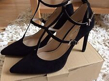 Zara Women  High Heel Shoes With Ankle Strap Size Uk 7 EUR 40 BNWT!