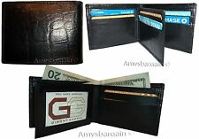 Men's Crocodile skin printed leather man's bi-fold wallet 9 card+ID BR New Style