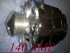 HIGH OUTPUT NEW ALTERNATOR GM,HOTROD CHROME1,ONE WIRE,6G-PULLEY Chevrolet CAMARO