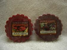 YANKEE CANDLE***BLACK CHERRY & SUGARED PLUMS***Set of 2~~~BRAND NEW~~~SEALED