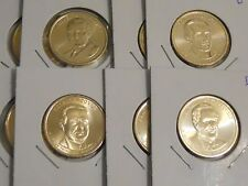 2014 Presidential Gold $1 Dollar Set (D&P) 8 Coins: Harding, Coolid, Hoove, Roos
