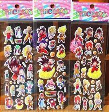Dragon Ball Z DBZ Anime Goku Stickers 3 Sheet 17x7cm Lot US Seller