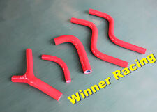Fit Honda CR 250 R CR250R 1985-1987 silicone radiator coolant hose kit RED 1986