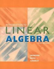 Introduction to Linear Algebra by R. Dean Riess, Jimmy T. Arnold and Lee W....