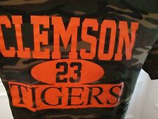 Clemson Tigers No 23 Camoflage Short Sleeve Graphic Tee Size Adult M